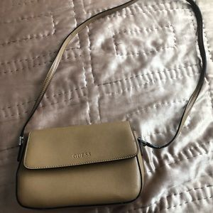 VINTAGE GUESS leather brown crossbody Bag